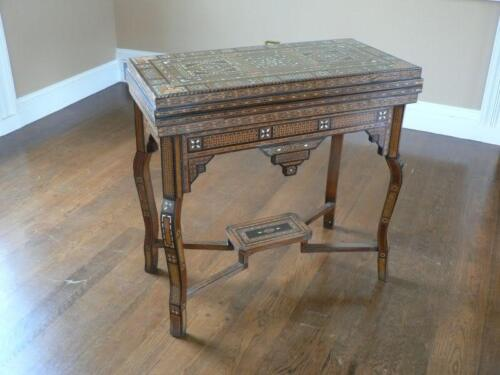 Stunning Hand Inlaid Game Table! Late 19th Century