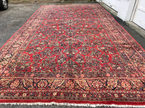 "ANTIQUE AMERICAN   P....N SAROUK  RUG 10'6""X19'6"" CIR 1900"