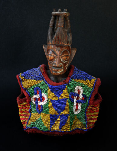 ANTIQUE AFRICAN ERE IBEJI BEADED JACKET YORUBA