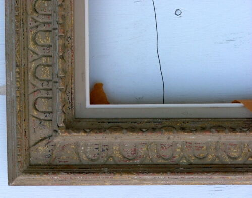 FRAME MODERN CARVED FANCY CASSETTA SOLID WOOD MID CENTURY FITS 18 x 24 INCHES
