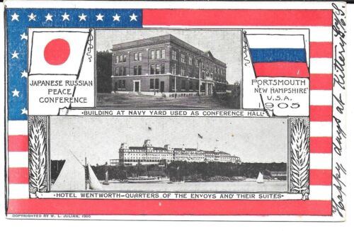 Japanese Russian Peace Conference – Portsmouth NH Postcard – 2 Buildings