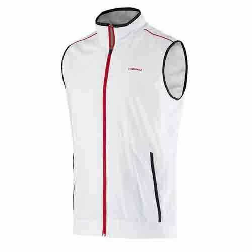Head Club Zip Up Vest Gilet Sports Training Top Jacket Mens White 811675 EE201