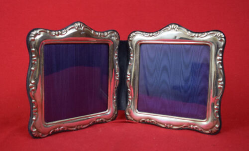 Antique  Sterling Silver Double  Picture Frame
