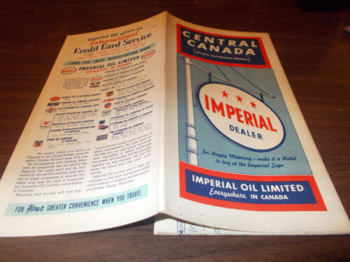 1940 Imperial Oil (Esso) Central Canada Vintage Road Map