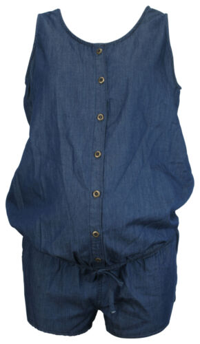 Ex Store Maternity Chambray Playsuit Blue