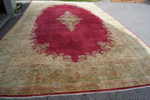 ANTIQUE HIGH KPSI LAVER RUG 12X19FT  circa19