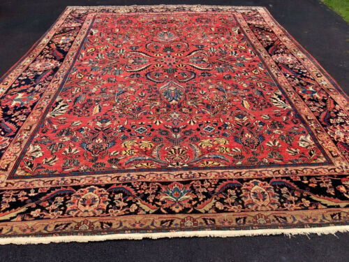 Auth: 19th  American C Antique Sarouk Fereghan 1890s  10x12ft
