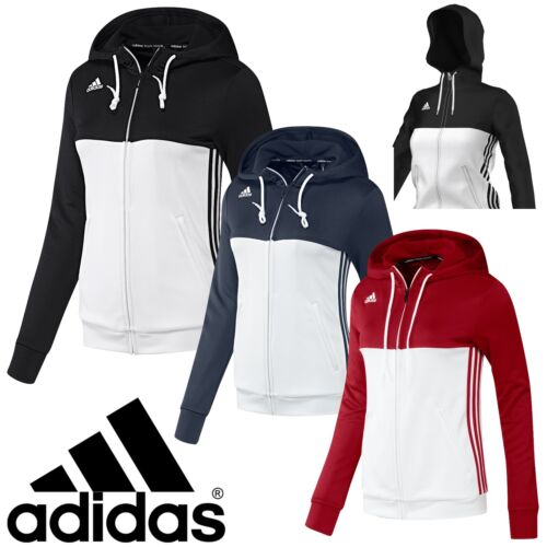 adidas Ladies T16 Climalite Hoodies Womens Sports Full Zip Hooded Jacket