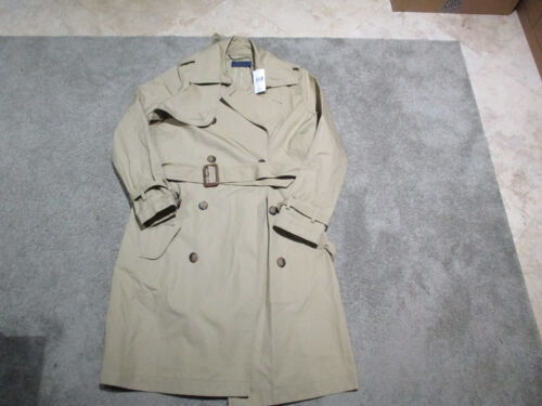 NEW Ralph Lauren Polo Trench Coat Womens Size 4 Brown Tan Over Coat Ladies $498