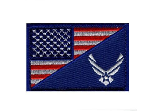 USAF USA Flag USA Air force Logo Embroidered Morale Hook Patch (YEN1) Air Force - 48823