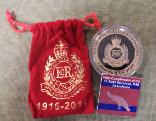 #D305. MILITARY MEDAL - AUSTRALIAN ARMY ENGINEERS, 14th FIELD COMPANY 1916-2016
