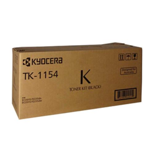 Kyocera Genuine TK-1154 Black Toner For ECOSYS P2235DW P2235DN - 3,000 Pages