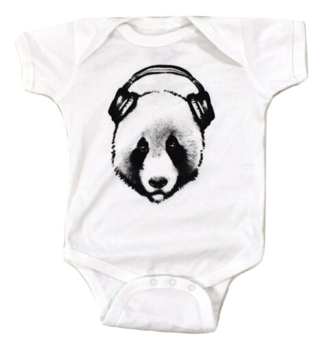 Infant Fifth Sun Panda With Headphones Creeper New 6, 12, 18, or 24 Months
