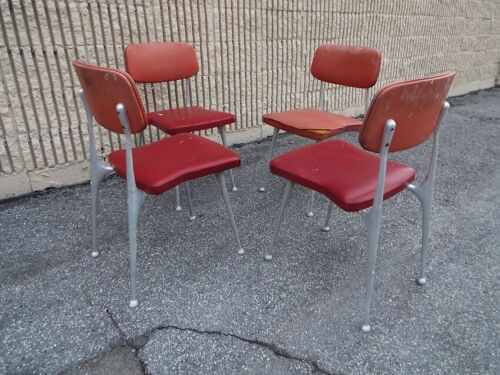 Early rare Shelby Williams Vintage Gazelle Chairs set of 4 Greyhound Ship $79