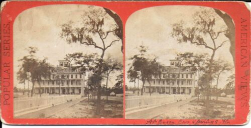 E & H T Anthony Stereoview- Clarendon Hotel Green Cove Springs Florida c1880s