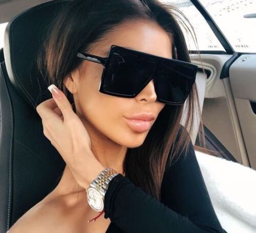 "BETTY Flat Top Huge Big Oversized XXL SHIELD Square Women Sunglasses ""Lauren 2"""
