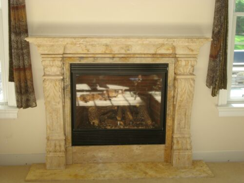 NICE HAND CARVED MARBLE TUSCAN FIREPLACE MANTEL CM1