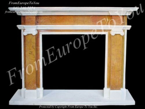 HAND CARVED MARBLE CLASSICAL FIREPLACE MANTEL FPL28