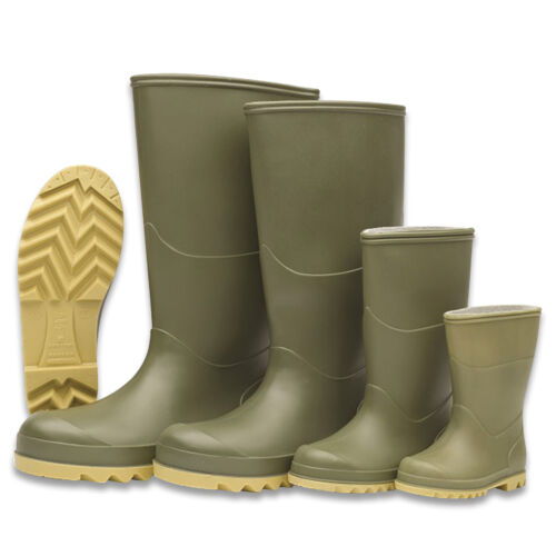 Border Wellington Boots Rain Wellies Farm Stable Yard Festival Mens Womens Kids