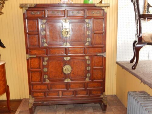 18th Century Chinese or Korean Cabinet on Stand