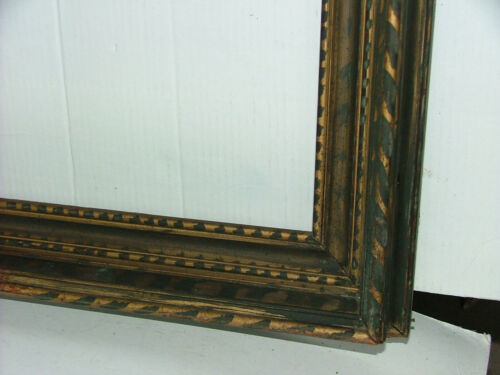 FRAME c.1930's STENCILED PAINTED MODERNIST FITS 21 x 25.5 MUSEUM SOLID WOOD