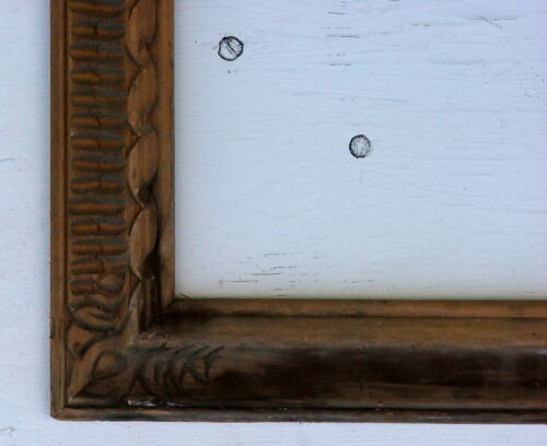 "FRAME HAND CARVED ORNATE ANTIQUE SOLID WOOD FITS 12"" x 23"""