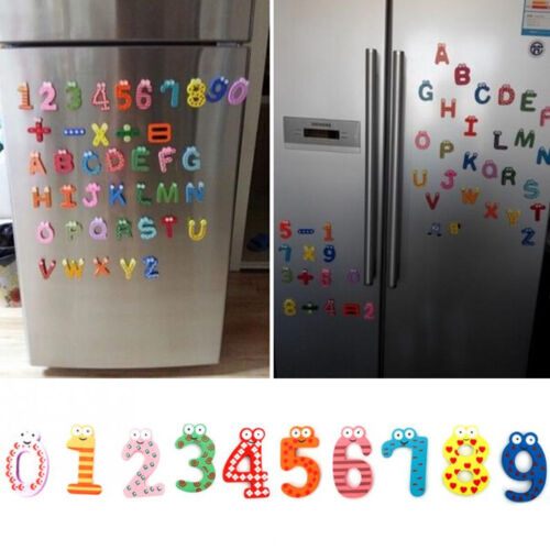 Wood Cute Fridge Magnet Alphabet Animal Number Early Educational Kids Baby Toy