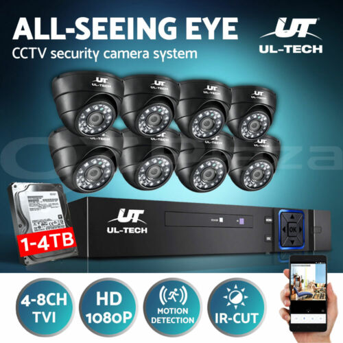 UL-tech CCTV Camera Security System Home 1080P 8CH DVR IP Cameras Day Night Kit <br/> ✓Real 1080P ✓Big Save on 1TB ✓APP Control ✓Motion Alert