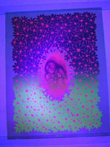 Vintage Psychedelic Blacklight Poster THE ROSE Child Flower LOVE Gary Patterson