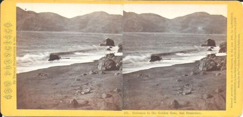 Houseworth Stereoview Entrance to the Golden Gate San Francisco 1870s
