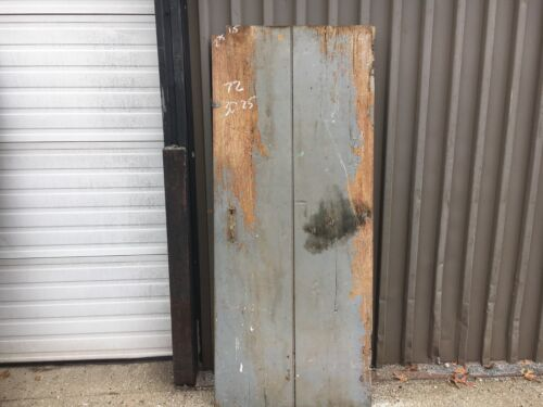 "Antique 19th century TWO board batten door CHESNUT - 72""  high x 30.25"" wide"
