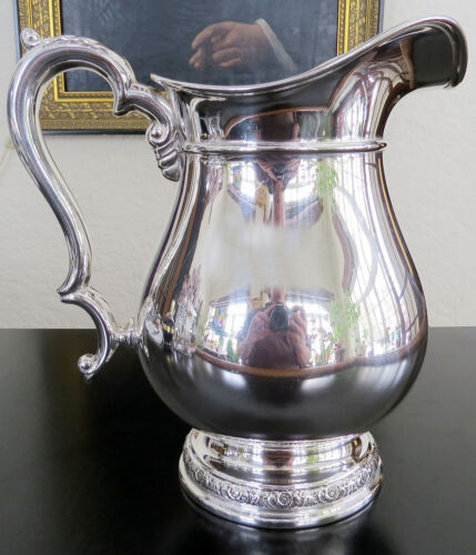 Sterling International Prelude Hand chased WATER PITCHER 21.8 ozt -  41/4 p