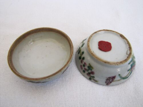 Antique Late 18th Century Chinese Porcelain Lidded Powder Container