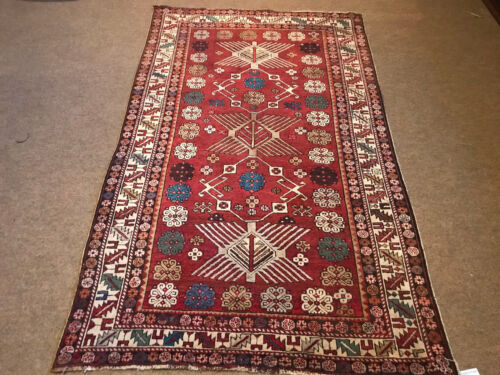 Antique Caucasian Shirvan Kazak Rug Size 4x6ft Circa 1900