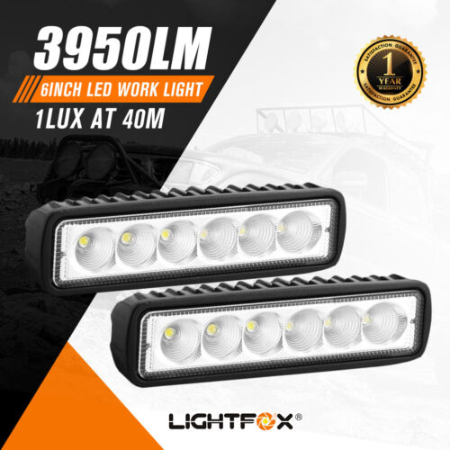 Pair 6Inch Led Work Light Bar Flood Reverse Fog Lights 4WD <br/> 15% off*  with code PAPR15,Ends 26/04.T&Cs apply.