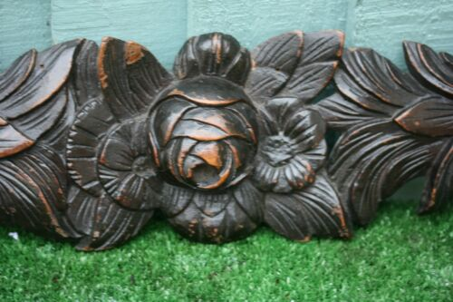 SUPERB 19thC BLACK FOREST WOODEN OAK FLOWER, LEAVES & OTHER CARVINGS c1880s