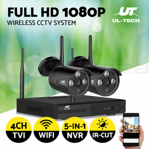 UL-tech CCTV Security Camera System Wireless Home Outdoor WIFI 1080P Day Night