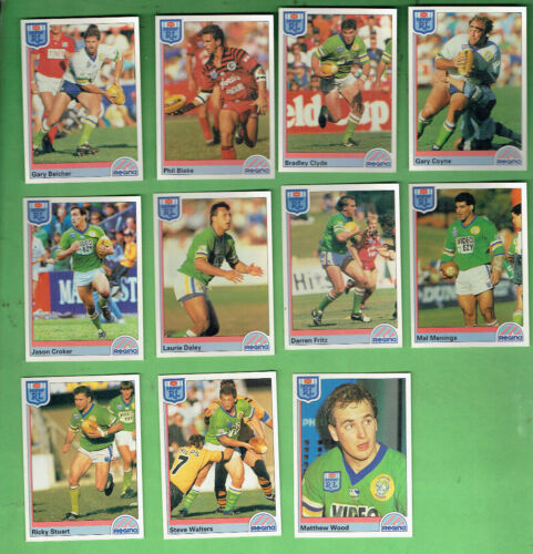 1992 Rugby League Cards - Canberra Raiders