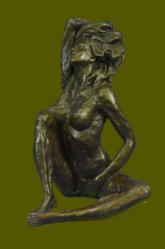 Signed Original Russian Artist Odegaard Nude Bronze Lady Hot Cast Sculpture Art