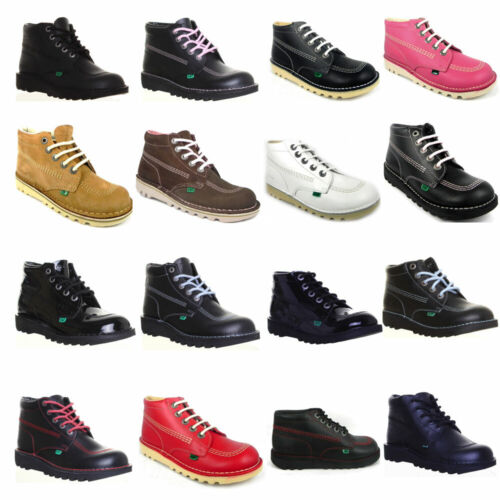Kickers Boots Back to School Boys Mens Hi Top Leather Girls Women Shoes <br/> We Offer an Extended 6 Month Warranty on all Kickers