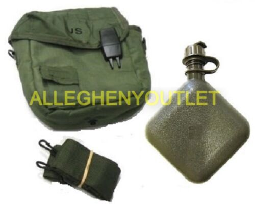 2 Qt OD Collapsible Canteen w/ 2 Qt OD Canteen Cover ALL NEW US Military IssueCanteens - 156461