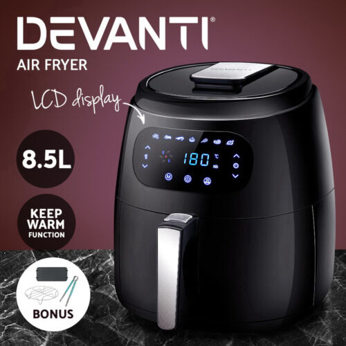 Devanti 8.5L Air Fryer Healthy Cooker Low Fat Oil Free Kitchen Accessories 1800W <br/> ✔8.5L Capacity ✔LCD Control ✔1800W ✔Keep Warm