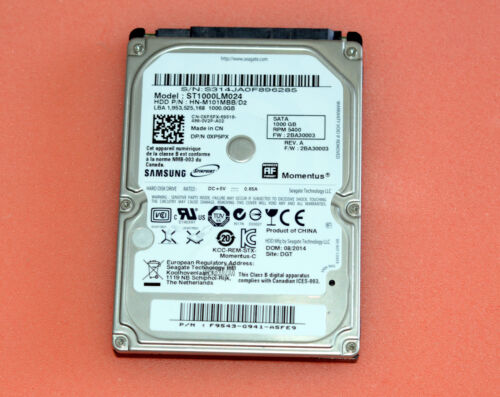"Samsung Spinpoint ST1000LM024 1000GB Internal 5400RPM 2.5"" 1TB HDD"