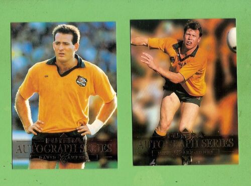 1995 AUSTRALIAN  RUGBY UNION SAMPLE / PROMO CARDS - DAVID CAMPESE & FARR-JONESRugby Union Cards - 2969
