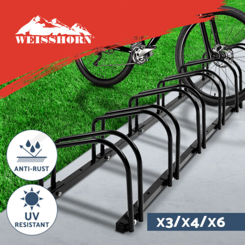 1 – 6 Bike Floor Parking Rack Instant Storage Stand Bicycle Cycling Portable <br/> ✔Fast Delivery ✔Top Seller ✔Tough Frame