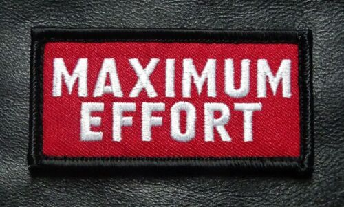Maximum Effort Deadpool Tactical Morale Hook Patch (3.0 X 1.5)Army - 48824