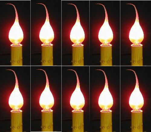 7 Watt Silicone Dipped Country Candle Lamp Light Bulbs ~ Wholesale Case of 25