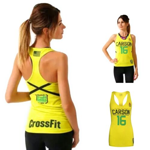 Women's Reebok CrossFit Authentic Carson Training Tank Top S97469 Yellow