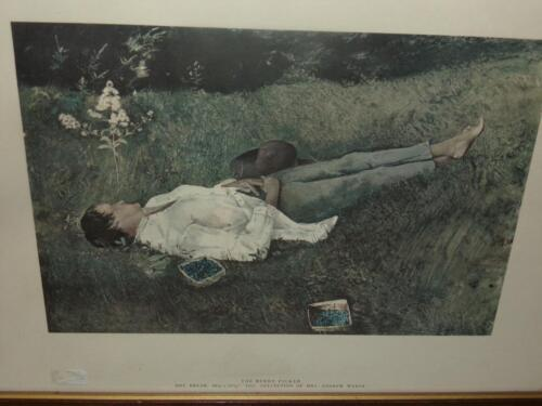 ANDREW WYETH 1961 DRY BRUSH MRS.WYETH'S COLLECTION THE BERRY PICKER RARE!