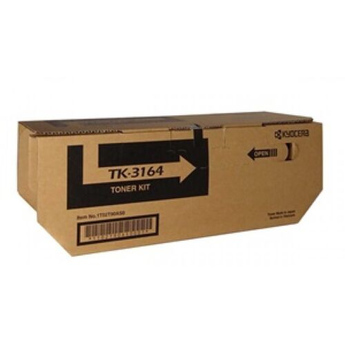 Kyocera Genuine TK-3164 Black Toner For ECOSYS P3045DN - 12,500 Pages